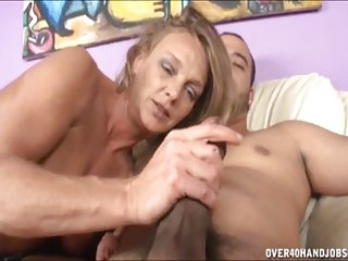 Hot lesbians naughty milf jerks off a naked guy big dicks tits