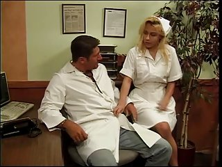 Big tits blonde nurse banged by the horny doctor big