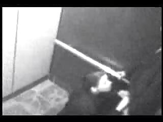 Security cam - blow job in an elevator security