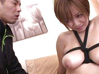 Busty milf meguru kosaka gets her shaved pussy creampied busty