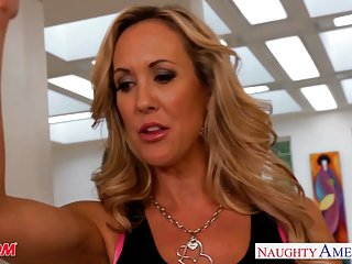 Busty blonde mom brandi love suck and fuck cock big ass tits
