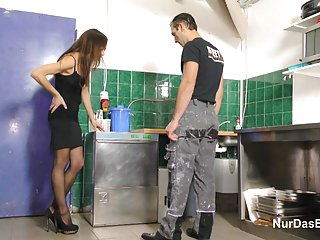 German step-dad caught and fuck not step-daughter party german