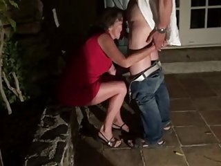 Husband watch of the yard and eats creampie group support porn videos