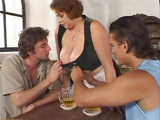 Big tits porn hot huge big petra barmaid
