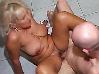 Lady mature granny fucked by bald man