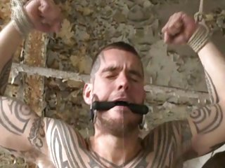 Bdsm guy tied up fucked and milked bdsm