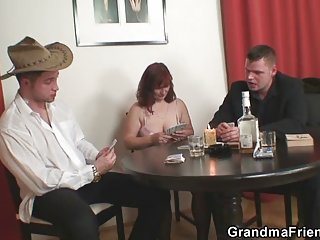 Very hot video porn mature lost her pussy in poker game grandma