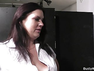Big brother sex bbw in fishnets rides his cock