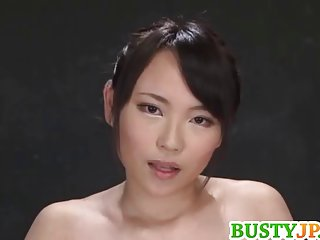 Men in lingerie akane plays with dildo on cans