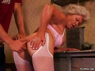 Homemade mom anal hot grandma effie loves