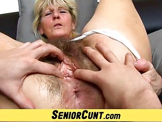 Close-ups of hairy old pussy czech granny hana